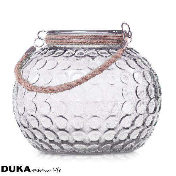 Lampion szklany bezbarwny 21 cm-dukapolska.com-35