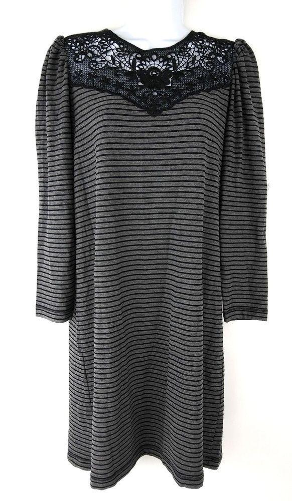 bd8b16c60 Ann Taylor Loft Womens Shift Dress Petite Size Small SP Long Sleeve ...