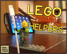Lego minifigs can hold charging cords--helps kids keep them off the ground.