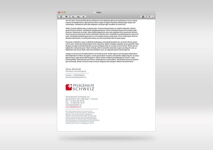 Pflegehilfe Schweiz Email Signature