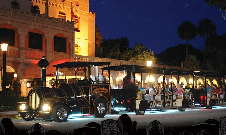 Tour the spookiest spots in St. Augustine with Ripley's Ghost Train Adventure and use hi-tech devices to detect supernatural spirits!