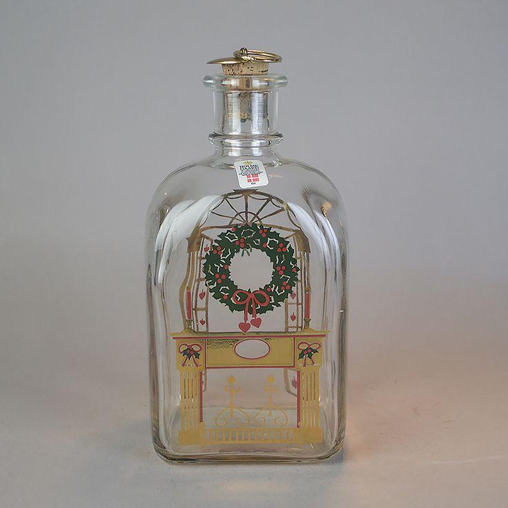Juleflaske 1984. 70 cl fra Holmegaard Glasværk.