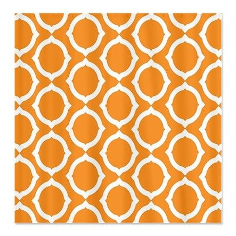 Orange curtain --Cafepress