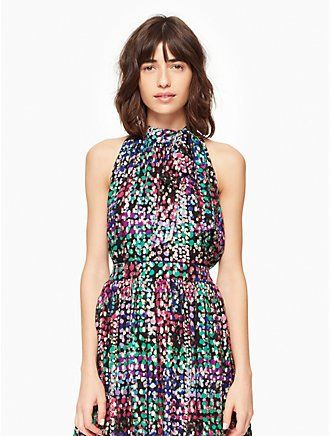 metallic multi dot top by kate spade new york