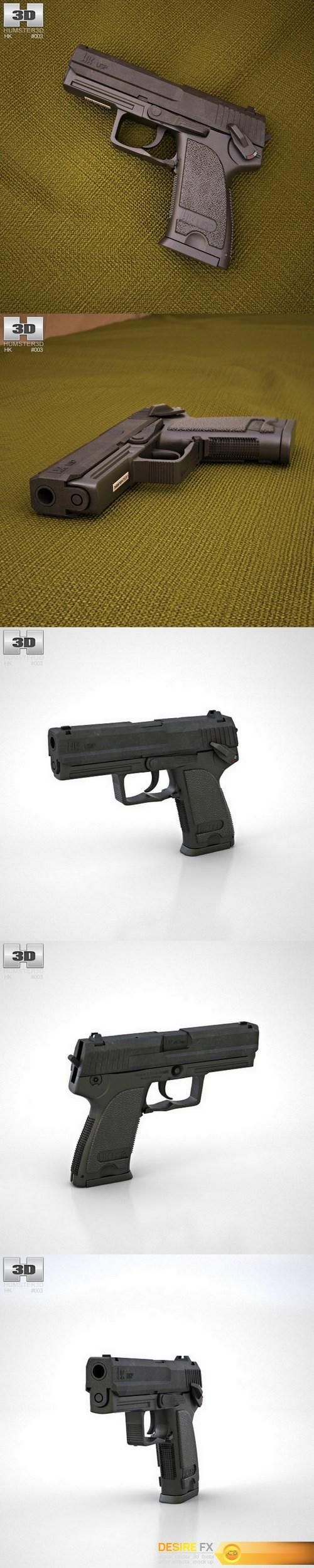 Heckler & Koch USP 3D model  http://www.desirefx.me/heckler-koch-usp-3d-model/