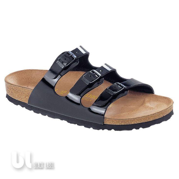 Birkenstock Florida Herren Damen Hausschuh Sandale Pantolette Schwarz Lack Leder in Kleidung & Accessoires, Damenschuhe, Sandalen & Badeschuhe | eBay!