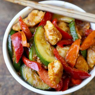 This is a Quick and Easy Hunan Chicken Recipe made with tender pieces of chicken, vegetables and tossed in a savory & spicy gravy like sauce.