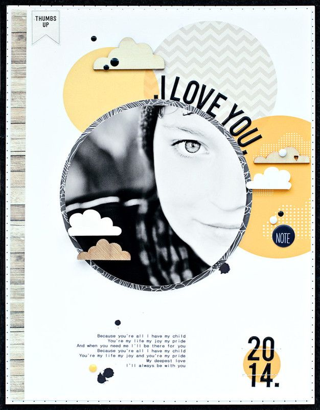 #papercrafting #scrapbooking #layout - *i love you* by JanineLanger at @studio_calico