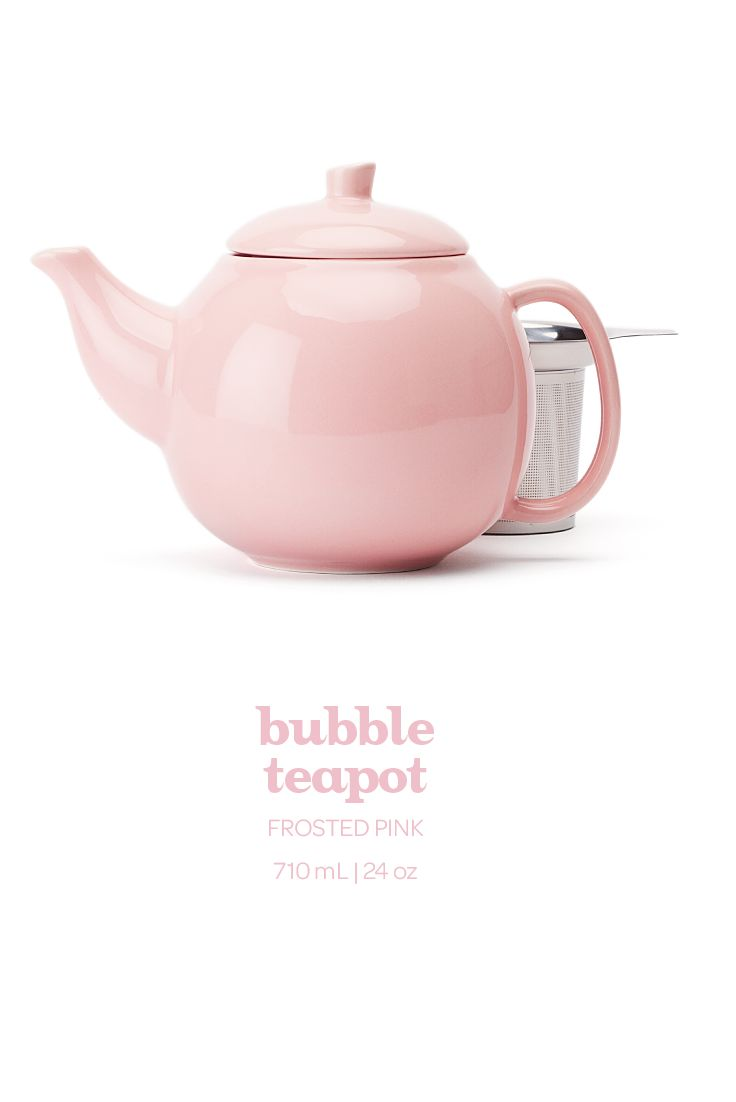 WINTER 2014 - Upgrade your teatime with this beautiful light pink teapot. Includes infuser.