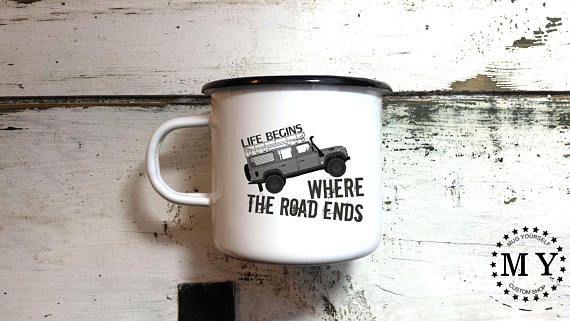 Offroad Enamel Mug / Offroad Gift / Land Rover Mug / Offroad