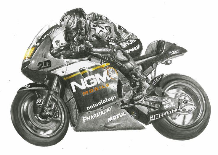 1st A4 Fine Art Print of MotoGP Star Aleix Espargaro on the Forward Racing Yahama 2014 available to buy via ebay auction.