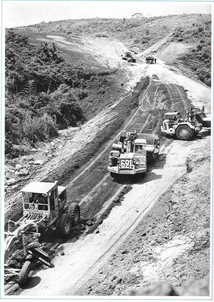 1964 chantier RAZEL au Cameroun