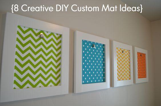 picture frame matting ideas | Creative DIY Custom Mat Ideas | | Sunlit Spaces
