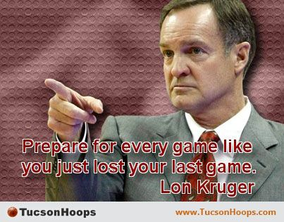 Lon Kruger is an American college and professional basketball coach who is currently the men's basketball head coach of the University of Oklahoma. Kruger played college basketball for Kansas State University. He has served as the head coach of the University of Texas–Pan American, Kansas State, the University of Florida, the University of Illinois, and the University of Nevada, Las Vegas, as well as the Atlanta Hawks of the NBA. www.TucsonHoops.com