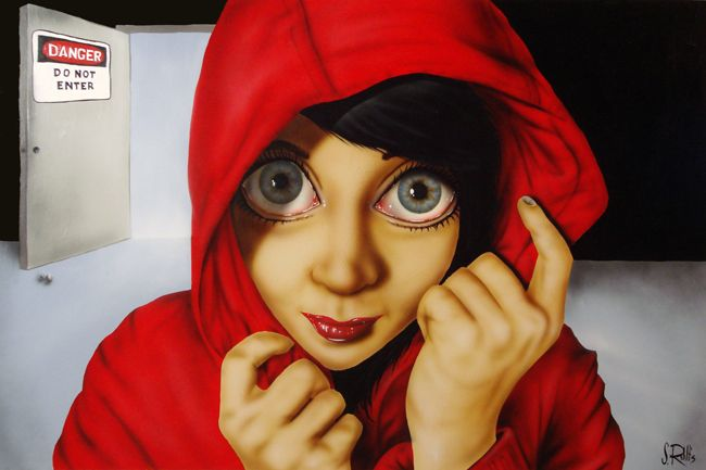 BetweenMirrors.com | Alt Art Gallery: Scott Rohlfs' Big Eyed Beautiful Women