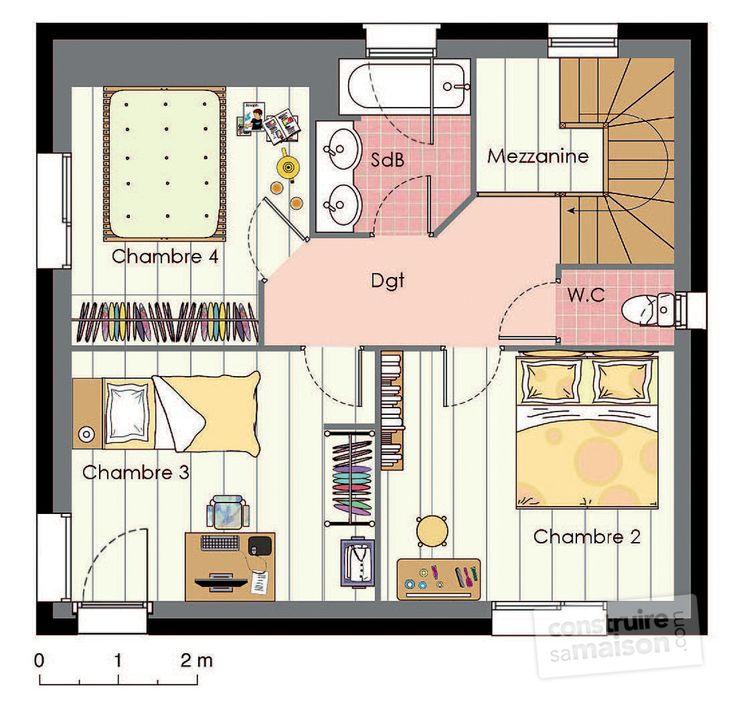 dessin de maison traditionnelle en perspective 3D Perspective