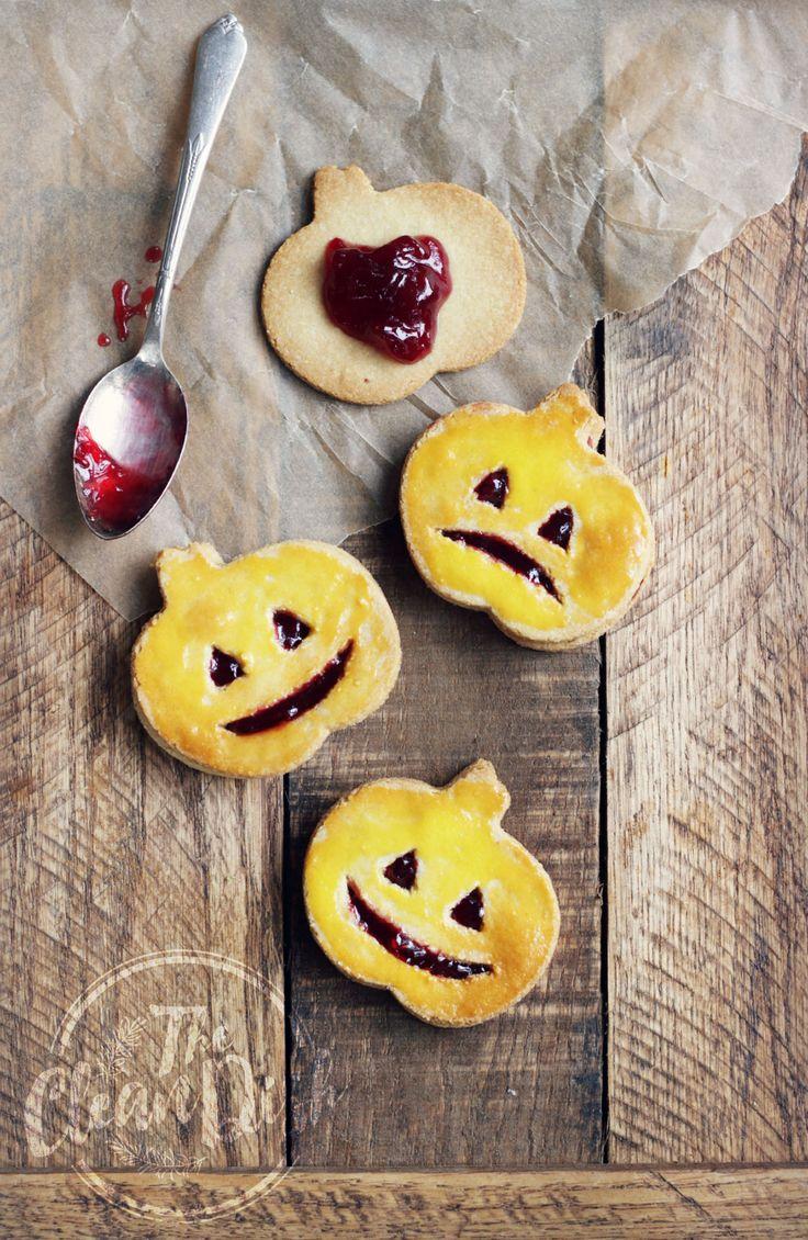 4-Ingredient Jack O'Lantern Cookies {vegan, grain free, gluten free}: