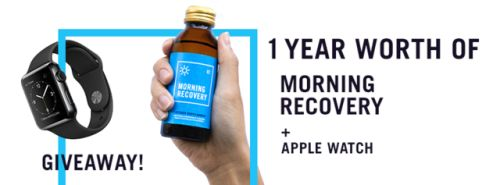 Win 1 Year Worth Of Morning Recovery and An Apple Watch! Ends... IFTTT reddit giveaways freebies contests