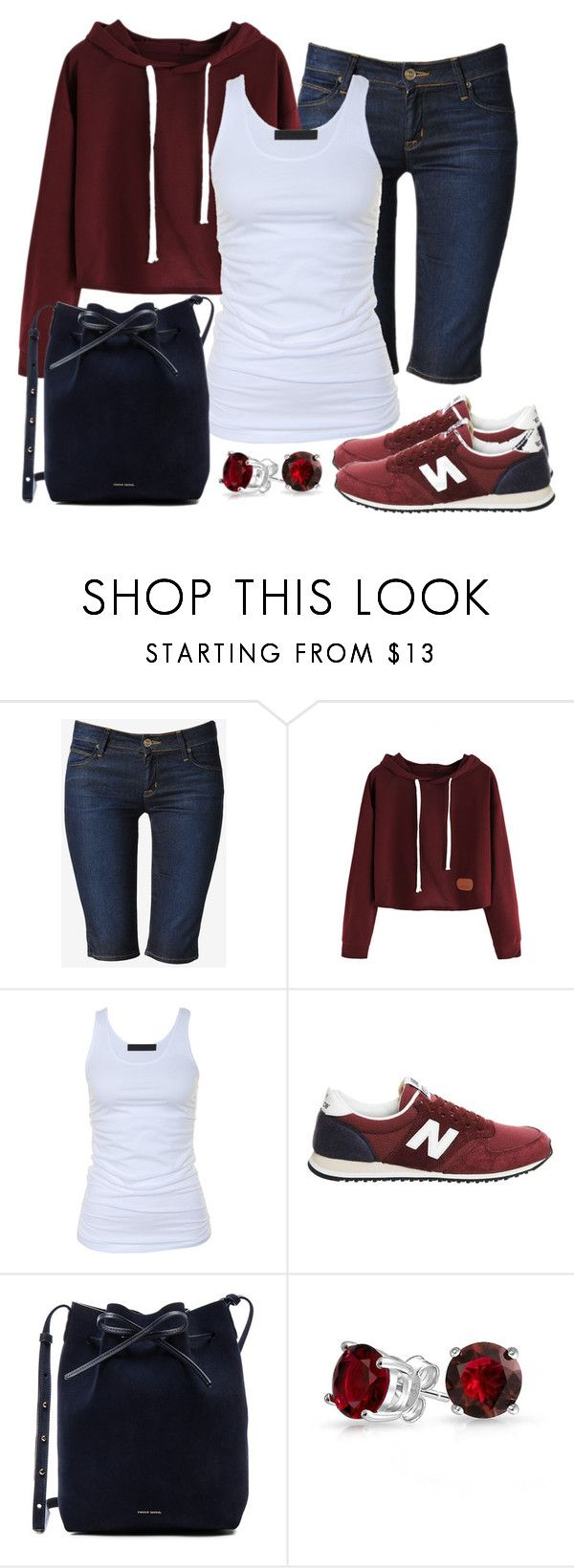 """Casual Friday"" by gallant81 ❤ liked on Polyvore featuring Hudson Jeans, Tusnelda Bloch, New Balance, Mansur Gavriel and Bling Jewelry"