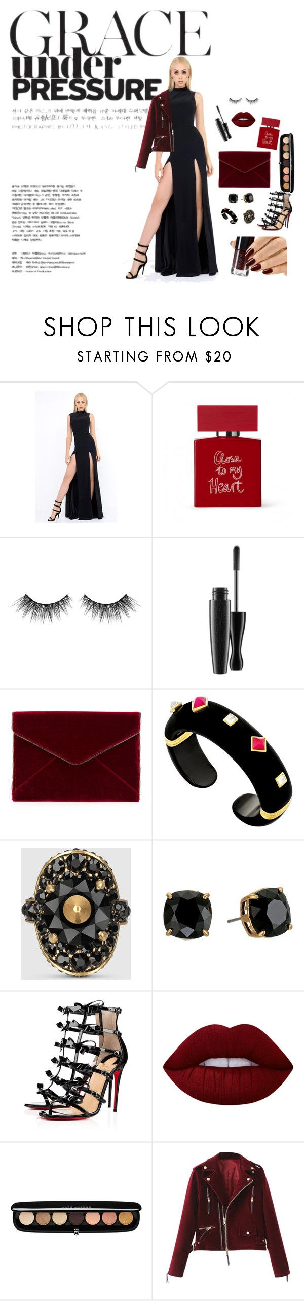 Fine like Wine! by newyorkdressonline on Polyvore featuring Mac Duggal, Christian Louboutin, Rebecca Minkoff, Tory Burch, Margot McKinney, Gucci, Marc Jacobs, Lime Crime, Huda Beauty and Bella Freud