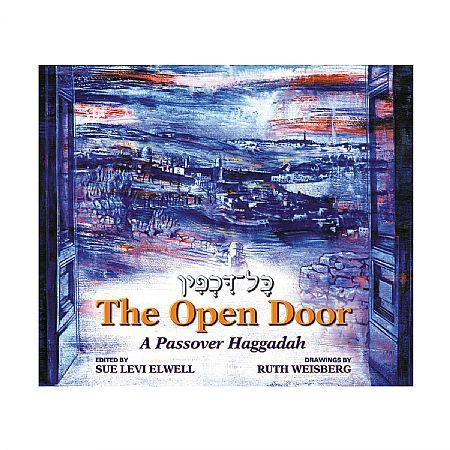 The Open Door: A Passover Haggadah  The Open Door includes traditional and innovative blessings, extensive commentaries and supplemental readings, contemporary additions like Miriam's Cup, women's and men's voices in gender inclusive language, more than 40 pages of traditional and newly commissioned music and magnificent full color art.