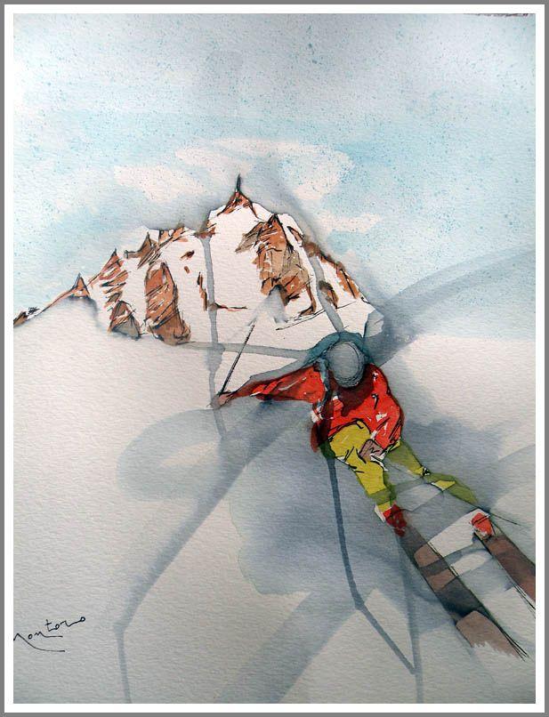 skier metal wall art - Google Search