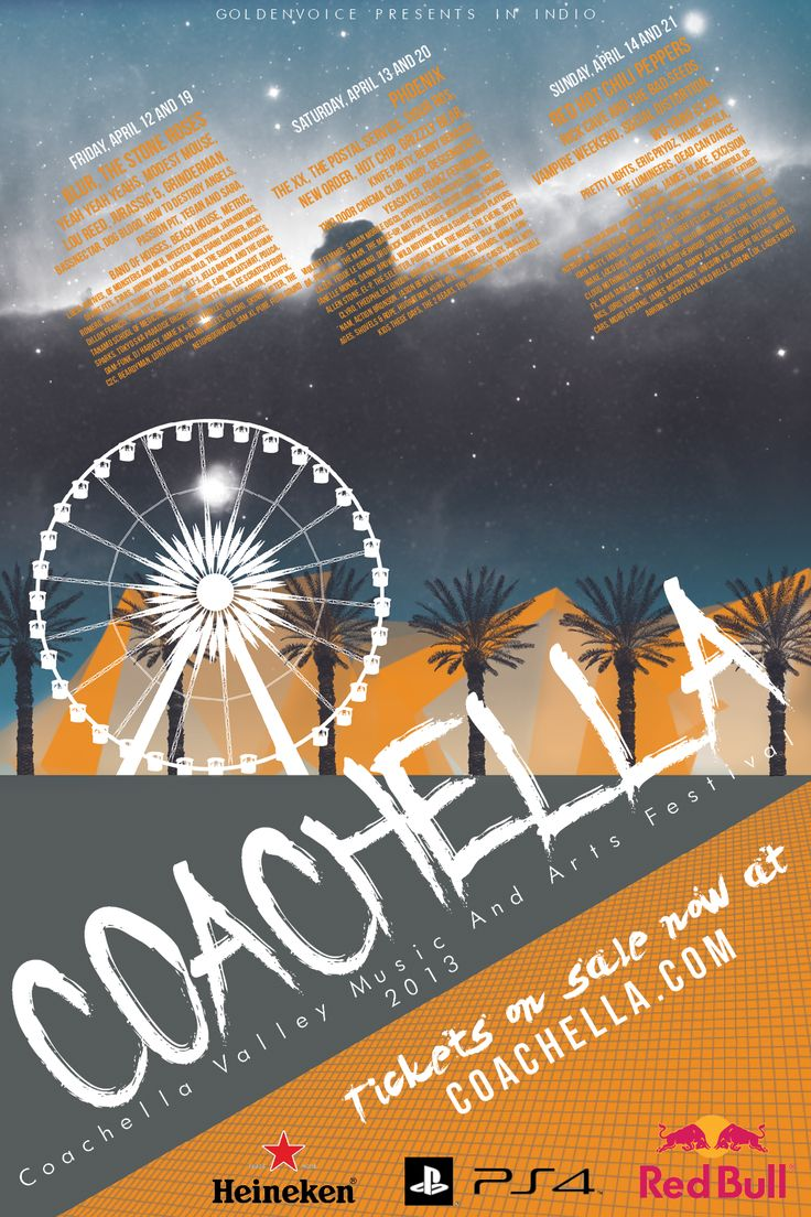 Poster design for technical events - Local Event Poster Coachella Music Festival