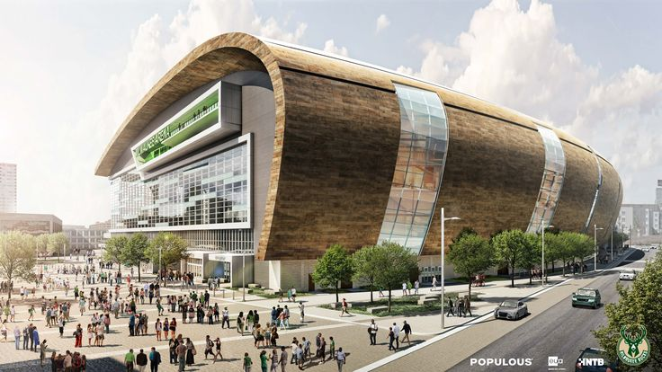 I don't know why but I'm totally digging this design for the new Milwaukee Bucks arena.