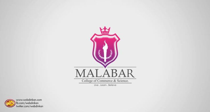 Logo design for Malabar College of Commerce and Science.