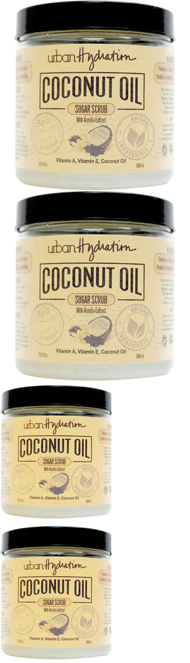 Body Scrubs and Exfoliants: Urban Hydration Coconut Oil Sugar Scrub + Vanilla Extract Natural Vitamins Ae BUY IT NOW ONLY: $30.53