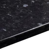 38mm B&Q Ebony Granite Gloss Laminate Round Edge Kitchen Worktop