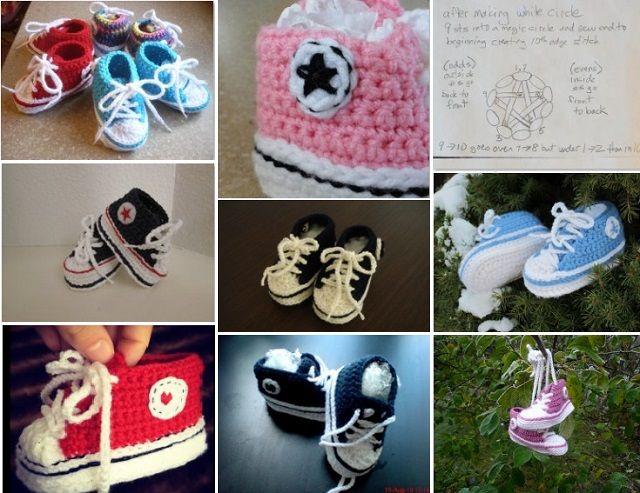 DIY � Crochet Baby Converse