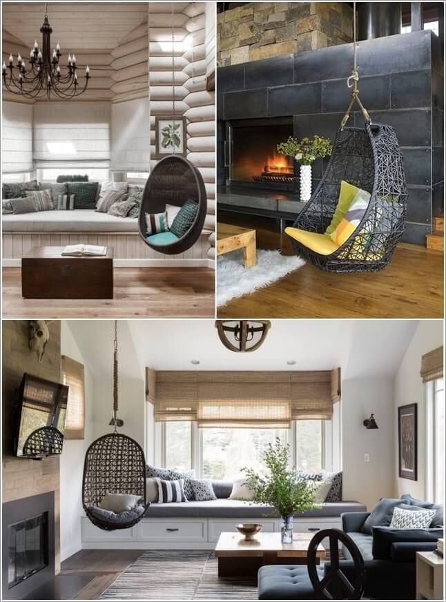Hang A Swing Chair To Add An Element Of Fun · Living Room ... Part 52