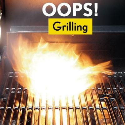 The Most Common Grilling Mistakes For example: Use your thumb to make a small indentation in the center of each patty before tossing it on the grill. Burgers swell in the middle as they heat up, so this trick will help them hold their shape and cook evenly.