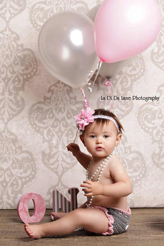 Toddler Baby Girl One Year Old Birthday Outfit Cake Smash Photo Shoot Crochet Diaper Cover
