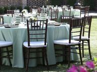 We rent Chavari Ballroom chairs for weddings and special events (Lakes Region Tent)
