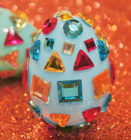 Easter Crafts for Kids | Disco Style Rhinestone Eggs | Easter Egg Crafts for Preschoolers