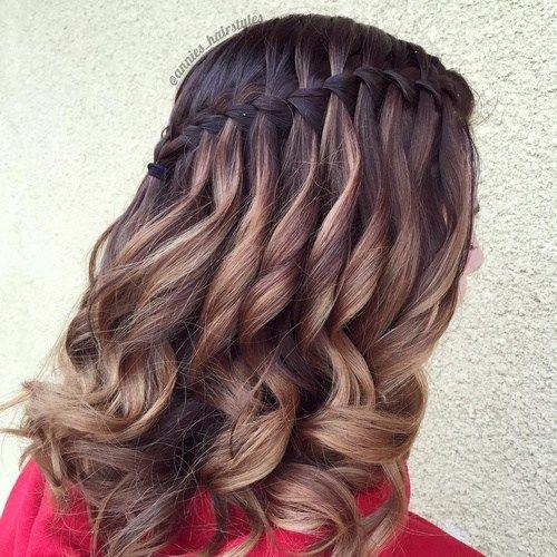 waterfall+braid+for+balayage+hair