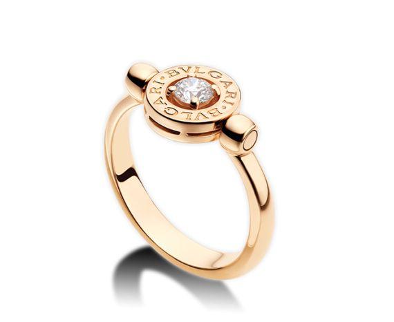 bvlgari bulgari inspired white gold and diamond flip ring