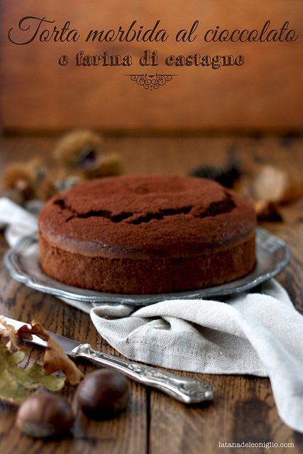 chocolate and chestnut cake - Torta morbida al cioccolato e farina di castagne by la tana del coniglio