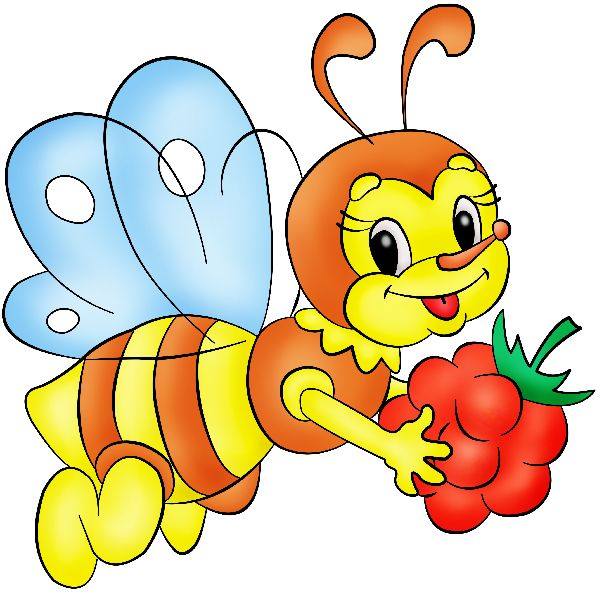 Funny Honey Bees Cartoon Insect Images Are PNG Format On A Transparent Background