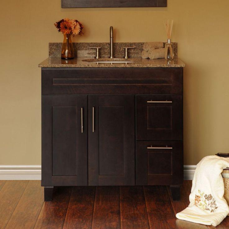 Bathroom , Get Good Price And Good Design For Discount Bathroom Vanities : Java Bathroom Cabinets Vanities