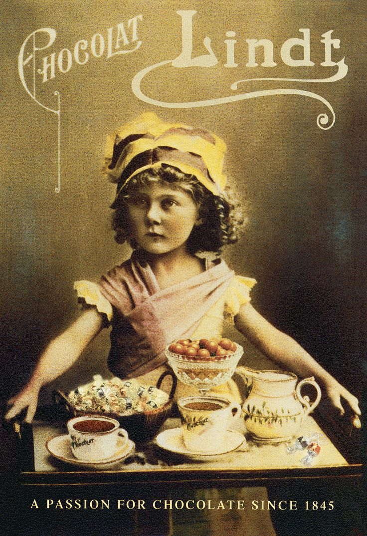 Affiche ancienne Lindt chocolat