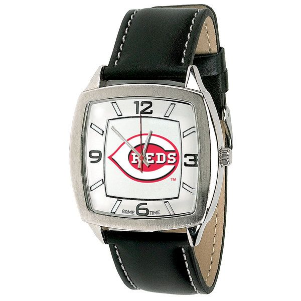 Officially licensed Cincinnati Reds MLB baseball watch.