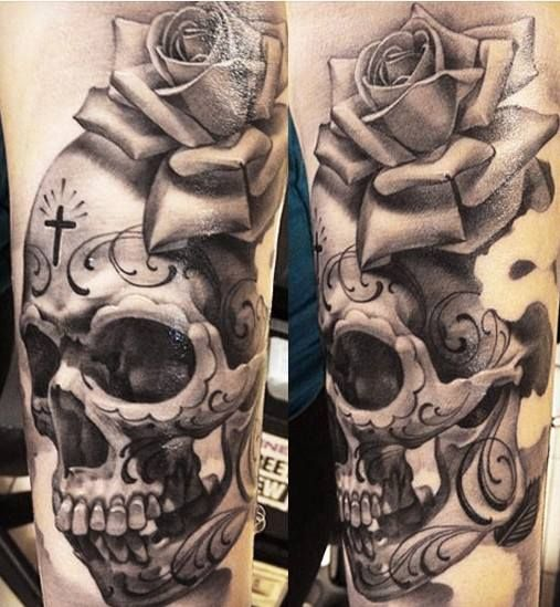 #☮✿★ SKULL TATTOO ✝☯★☮ http://tattoo-ideas.us