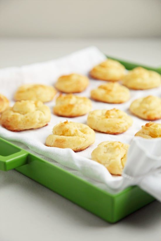 Pin for Later: French & fancy-sounding but easy to make, gougères are a perfect party appetizer