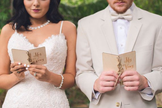 Vow Books His Vow Book Her Vow Book Rustic by DownInTheBoondocks