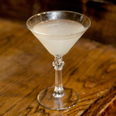Corpse Reviver. Gin, Cointreau, Lillet, and lemon juice