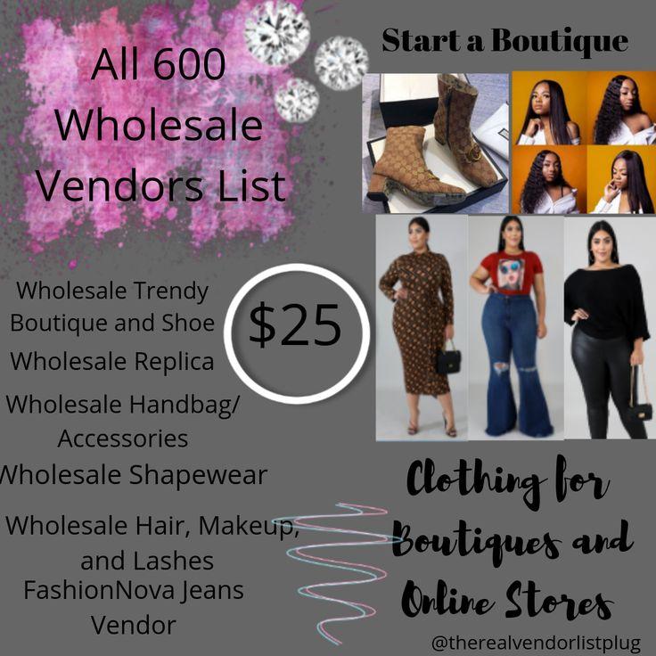 free vendor list for clothing