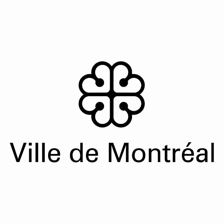 Logo créé par Georges Huel et Associés Inc en 1981 - chaque cœur est formé par le V de Ville et le M arrondi de Montréal- le contour témoigne du caractère insulaire de la ville